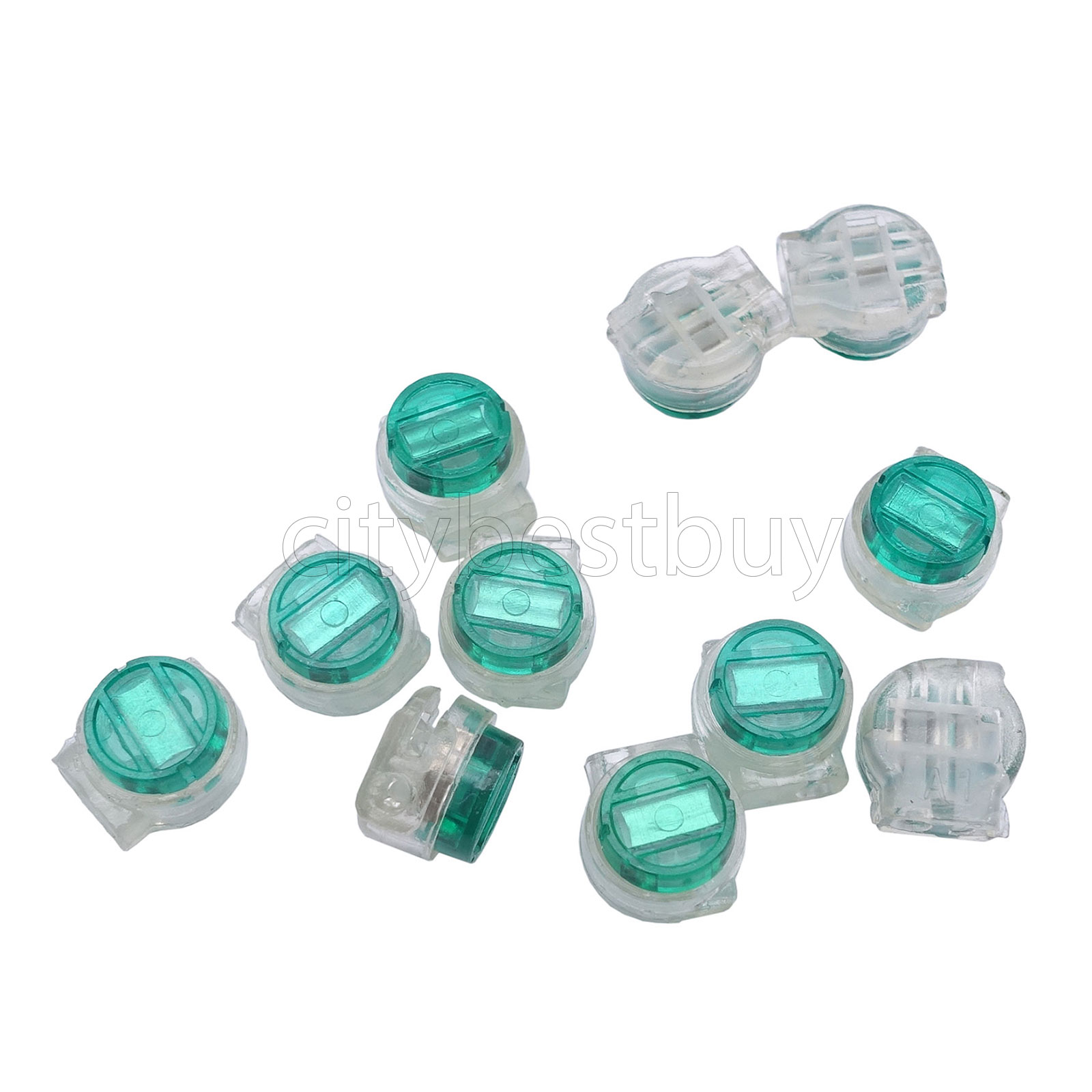 100pcs Wire Splice Terminal Connector K5 UG 2 Green For Telephone ...
